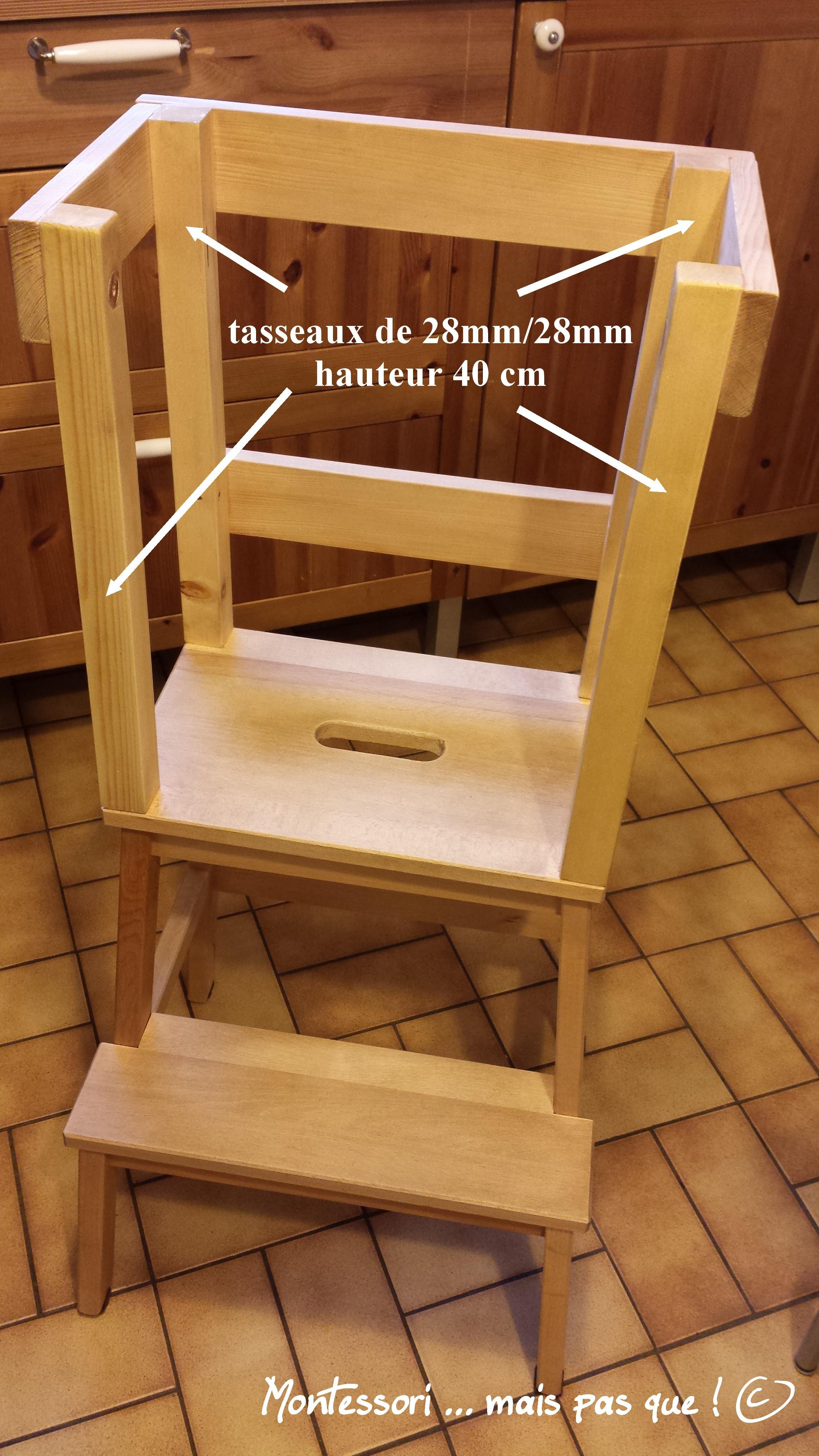 Tour 1 montessori mais pas que - Fabriquer une cuisine en bois pour enfant ...