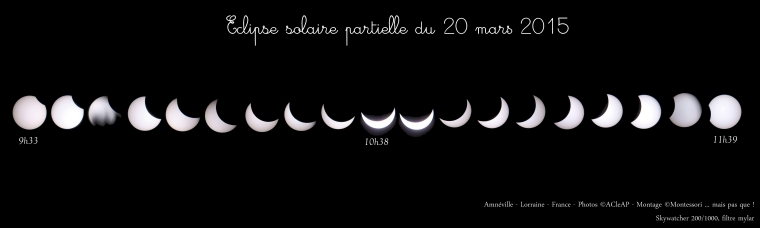 Montage éclipse solaire