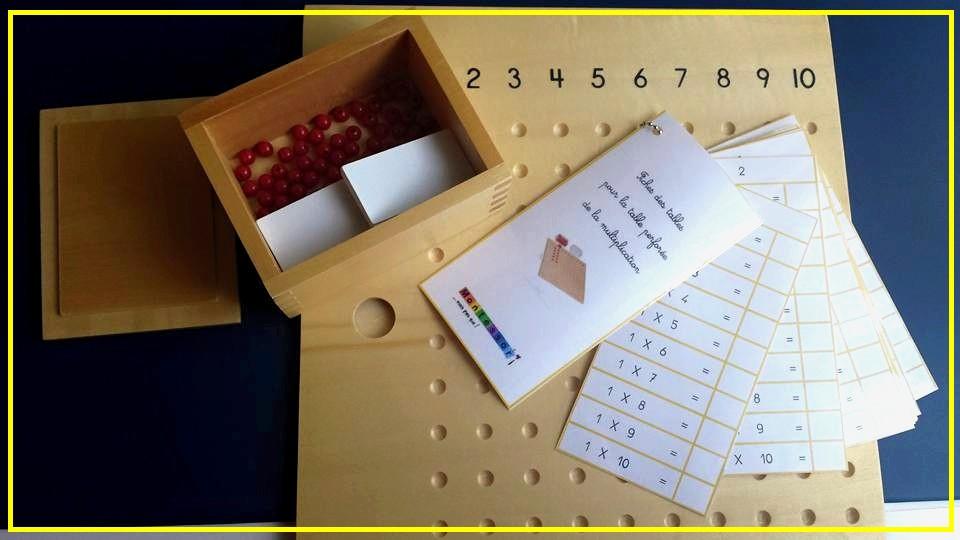 Un premier pas vers la m morisation des tables de for Livret multiplication