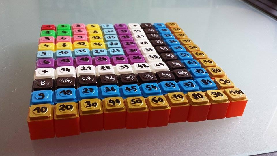 Pythagore montessori montessori mais pas que - Table de pythagore montessori ...