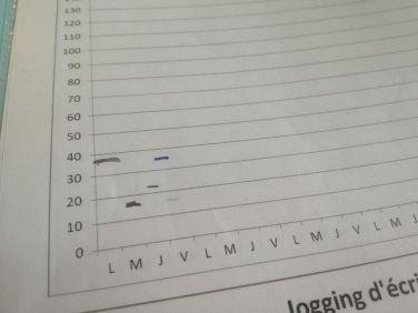 Graphique jogging d'écriture